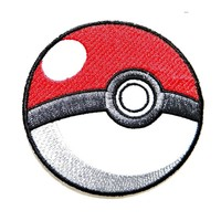 Pokeball Pokemon Cartoon Game Logo Girl Kid Baby Jacket T shirt Patch Sew Iron on Embroidered Symbol Badge Cloth Sign Costume