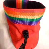 Rainbow Chalk Bag for Climbing
