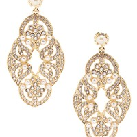 Gemma Layne Swirl Pearl Chandelier Earrings | Dillards