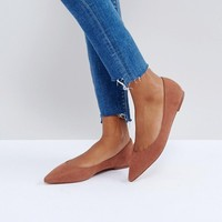 ASOS LATCH Wide Fit Pointed Ballet Flats at asos.com