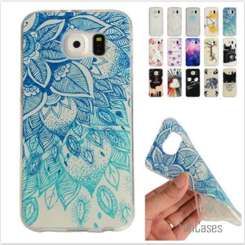 Cartoon Lemon Bike Tree painted Rubber Back Cover Silicon Gel Soft TPU mobile phone case For Samsung Galaxy S6 G9200