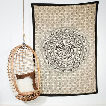Printed Tapestries, White/Black