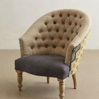 Kalver Armchair by Anthropologie Neutral Motif One Size Furniture