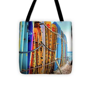 Surfboard Row  - Tote Bag