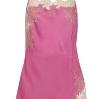 Carine Gilson - Lace-trimmed silk-satin chemise