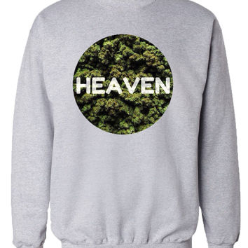 Marijuana Heaven Crew Neck