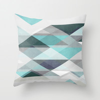 Nordic Combination 1 X Throw Pillow by Mareike Böhmer Graphics
