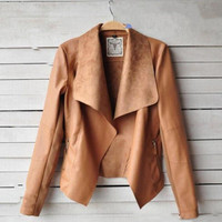 New Vintage Womens Slim Biker Motorcycle Faux Soft Leather Zipper Jacket CoaT