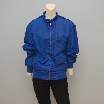 Vintage Jacket Size 40 Member's Only Jacket Bright Blue 1980's Jacket Coat Windbreaker Retro Hipster 80's Outerwear