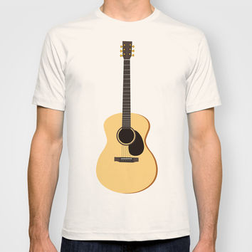 Acoustic Guitars Pattern T-shirt by Cute To Boot