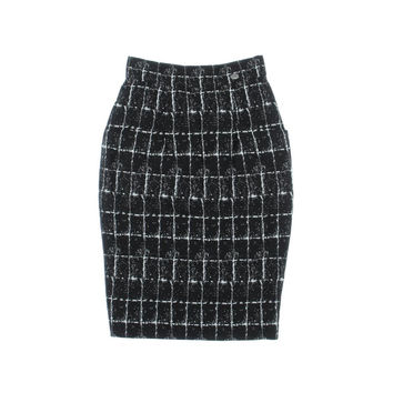 Chanel Womens Silk Textured Pencil Skirt