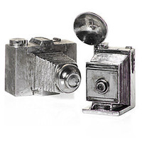 Z Gallerie - Antique Silver Cameras