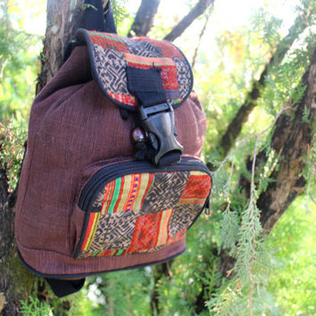 Small Tribal Backpack Hmong Patchwork Embroidery Kids Bag