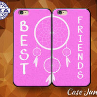 Pink Best Friends Dream Catcher Matching Pair Cute Custom Case For iPhone 4 and 4s and iPhone 5 and 5s and 5c and iPhone 6 and 6 Plus +
