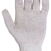 Gloves White Knit