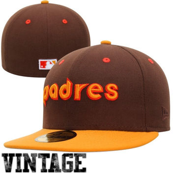 New Era San Diego Padres Two-Tone 59FIFTY Fitted Hat - Brown/Gold