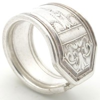 Classic Victorian Style Vintage Silver Ring