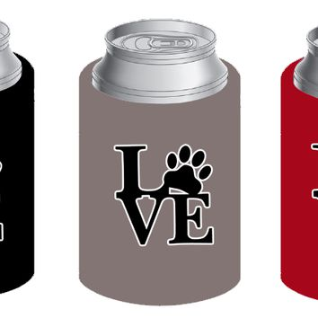 LOVE koozie in black (set of 2)