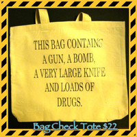 Funny concealed weapon tote bag  by LeiaLove00 on Etsy