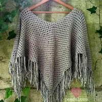 Crochet Poncho/Shawl~Ready to Ship~FREE SHIPPING