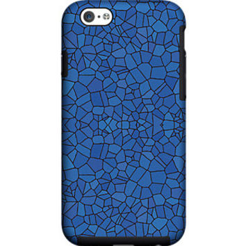 Milk and Honey Blue Mosaic Case for iPhone 6
