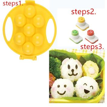 DIY Sushi Molds Makers Bento Nori Mold Small Smiling face Rice Ball Mold Kitchen Cooking Tools sandwich cake cookie mould cutter
