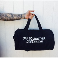 Off To Another Dimension Duffel Bag