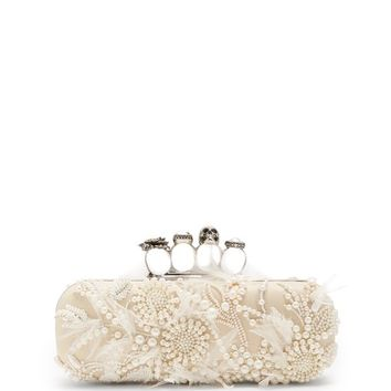 Faux-pearl knuckle box clutch | Alexander McQueen | MATCHESFASHION.COM UK