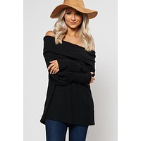Myra Off The Shoulder Top (Black)