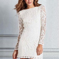 Laina Lace Shift Dress
