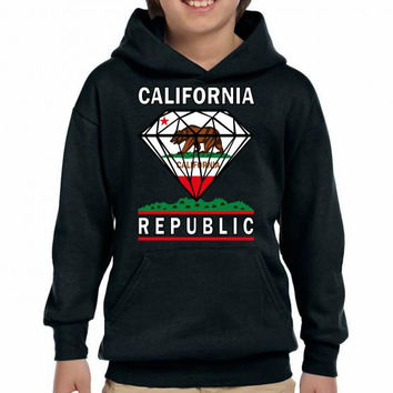 california diamond republic Youth Hoodie