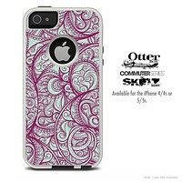 The Vector Purple Thin Laced Skin For The iPhone 4-4s or 5-5s Otterbox Commuter Case