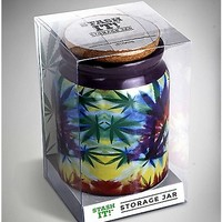 Leaf Tie Dye Storage Jar 12 oz - Spencer's