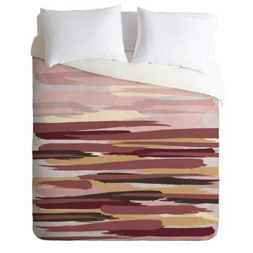 Viviana Gonzalez Marsala Abstract world 01 Duvet Cover