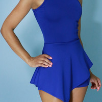 Peplum Romper Royal