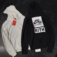 KITH x NIKE AIR FORCE Woman Men Fashion Hoodie Top Sweater1