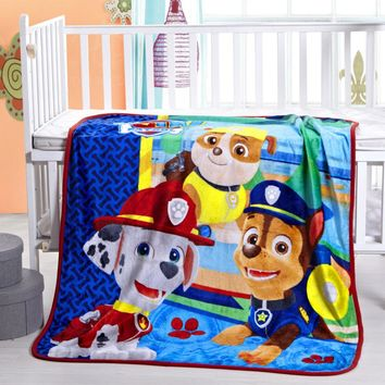 Home Textile Cartoon knitted blankets for children Baby Girl Boys paw patrol Blanket fabric100*140cm size Cartoon Child Sheet