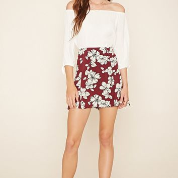 Contemporary Floral Skater Skirt