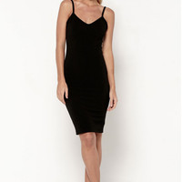Matea Designs NEVER FAIL Black Bodycon Midi Dress