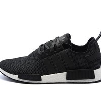 Beauty Ticks Adidas Nmd R1 'black Reflective' Champs Exclusive