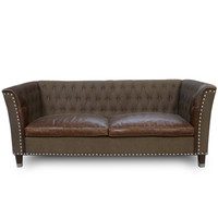 Leather & Tack Side Sofa
