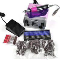 Pro Electric Nail Art Drill File Improved Overheat + Vibration Manicure Set