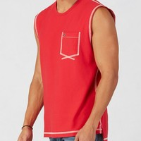 True Religion Flatlock Mens T-shirt - Ruby Red