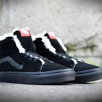 Vans Winter Warm Velvet Black Anti-fur High help Sneaker