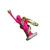 Juicy Couture - Hot Pink Statue of Liberty - Gold Plated Charm
