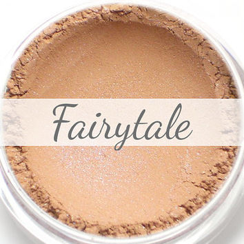 "Eyeshadow Sample - ""Fairytale"" - light peachy brown tan with blue duochrome shimmer (Vegan) Mineral Makeup Eye Color Pigment"
