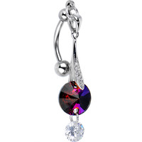 CZ Hollywood Glamour Top Mount Belly Ring | Body Candy Body Jewelry
