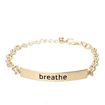 Breathe Stamped Spirit Bracelet