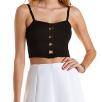 Caged Cut-Out Bustier Top by Charlotte Russe