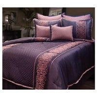 Veratex Tarah 8-Piece Queen Comforter Set - QVC.com